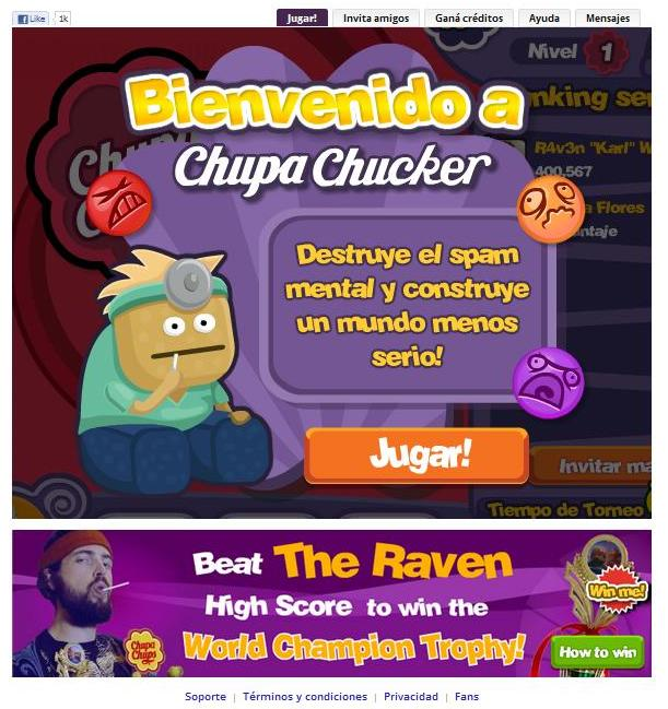 Advergame chup sucker chupa chups